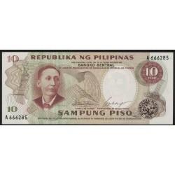 Filipinas P145a 20 Piso 1969 UNC
