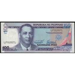 Filipinas P184f 100 Piso 2001 UNC