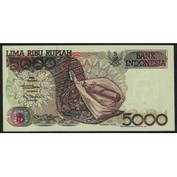 Indonesia P130a 5000 Rupias 1992 UNC