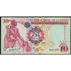 Lesotho P15c 10 Maloti 2005 UNC