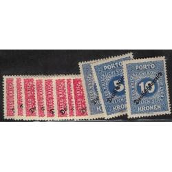 Austria Taxe Yv-64/74 Nuevos Con Resto de Bisagra