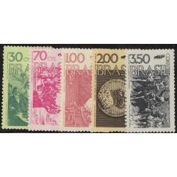 Brasil Yv-1007/1011 Serie Completa Mint