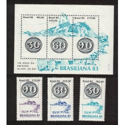 Brasil Yv-1615/1617 + Block 54 Mint