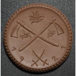 Alemania Notgeld Eisenach 1 Marco 1921 de Ceramica UNC