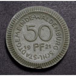 Alemania Reich 50 Pfenning 1921 de Ceramica UNC