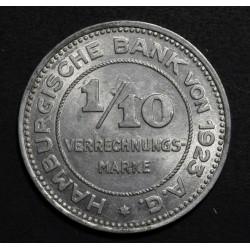 Alemania Hamburg 1/10 Marco 1923 UNC