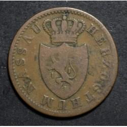 Alemania Nassau 1 Kreuzer 1844 KM67