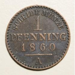Alemania Prusia 1 Pfenning 1860A