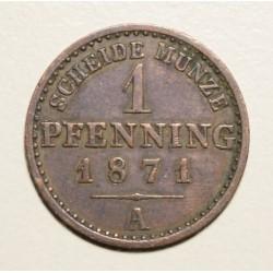 Alemania Prusia 1 Pfenning 1871A KM480