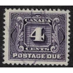 Canada Taxe Yv-4 Dent 12 Usado