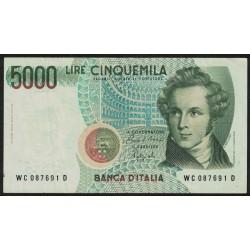 Italia P116b 5000 Liras 1985