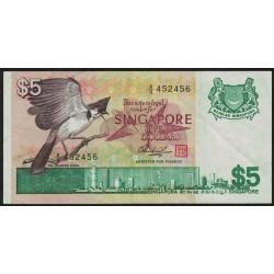 Singapur P10 5 Dolares 1976