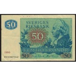 Suecia P53d 50 Coronas 1990