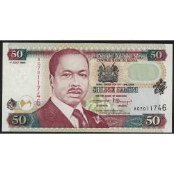 Kenia P36c 50 Shillings 1998 UNC