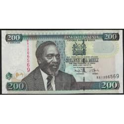 Kenia P49c 200 Shillings 2008 UNC