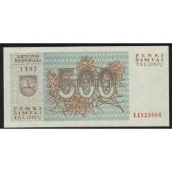 Lituania P46 500 Talonu 1993 UNC