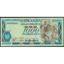 Ruanda P21a 1000 Francos 1988 UNC