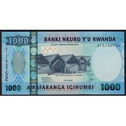 Ruanda P35 1000 Francos 2008 UNC