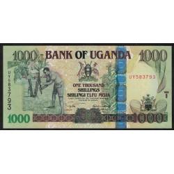 Uganda P43a 1000 Shillings 2005 UNC