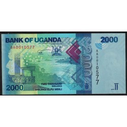 Uganda P50 2000 Shillings 2010 UNC