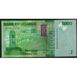 Uganda P51 5000 Shillings 2010 UNC