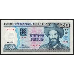 Cuba P122d 20 Pesos 2007 UNC