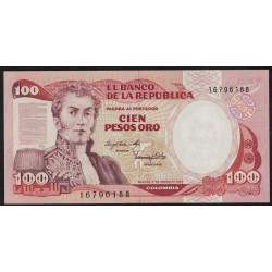 Colombia P426a 100 Pesos Oro 1983 UNC