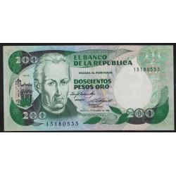 Colombia P429b 200 Pesos Oro 1985 UNC
