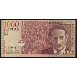 Colombia P450a 1000 Pesos Oro 2001 UNC