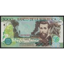 Colombia P447d 5000 Pesos 1999 UNC