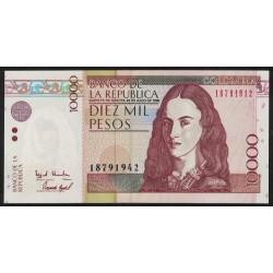 Colombia P443a 10000 Pesos 1998 UNC