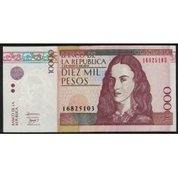 Colombia P453n 10000 Pesos 2010 UNC