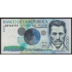 Colombia P454k 20000 Pesos 2005
