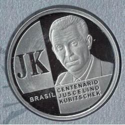 Brasil 2 Reales 2002 Plata Proof KM658 UNC