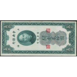 Republica de China P328 20 Customs Gold Units 1930