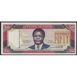 Liberia P29c 50 Dolares 2008 UNC