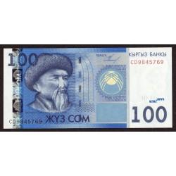 Kirguistan P26a 100 Som 2009 UNC