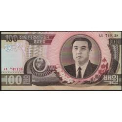 Corea del Norte P43a 100 Won 1992 UNC