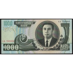 Corea del Norte P45b 1000 Won 2006 UNC