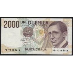 Italia P115 2000 Liras 1990 UNC