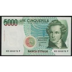 Italia P111c 5000 Liras 1985 UNC