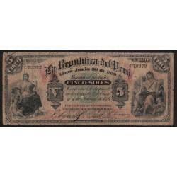 Peru P4 5 Soles 1879