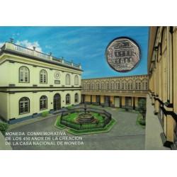 """Peru 1 Nuevo Sol 2015 """"450 Años Casa de La Moneda"""" Blister UNC"""