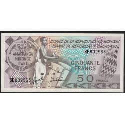 Burundi P28c 50 Francos 1989