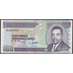 Burundi P37c 100 Francos 2001 UNC