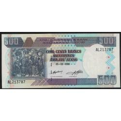 Burundi P38b 500 Francos 1999 UNC