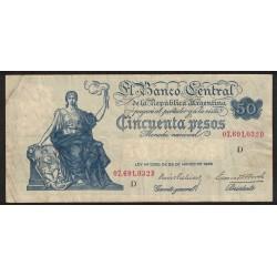 B1890 50 Pesos Progreso D 1938 Prebisch-Bosch