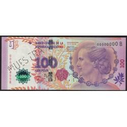 MUESTRA 100 Pesos Eva Peron Serie B 2013 UNC