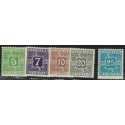 Dinamarca Taxe Yv-22/26 Mint
