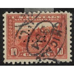 Estados Unidos Yv-198B dentado 10 Perforado Usado